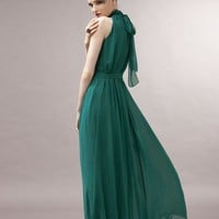Fashion Elegant Laciness Stand Collar Large Size Double-Deck Dress