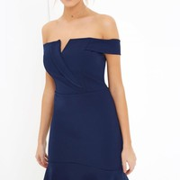 GIRLS ON FILM NAVY MIDI DRESS