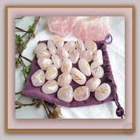 """Love & Healing"" Rose Quartz Rune Set"