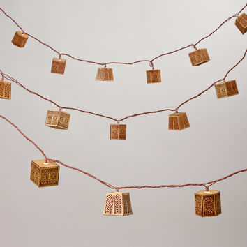 Carved Wood String Lights - World Market