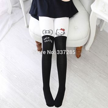 Baby girls winter autumn legging cotton stocking for kids lovely cute children girls cartoon warm Pantyhose new leggings warmer