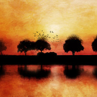 silhouettes in the sunset Art Print by Viviana González