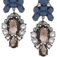 Ek Thongprasert - Royale rhodium-plated, crystal and silicone earrings