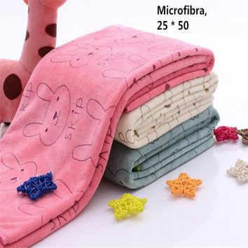Shower Products Rabbit Microfiber Baby Kids Beach Bath Towel For Bathing Swimming Absorbent Drying 200*500mm