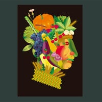 Vegetable man - Kitchen wall art - Kitchen decor - Renaissance cool - Kitchen gift