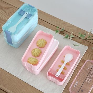 Microwave Lunch Box Portable 3 Layer Container