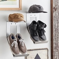 Shoe & Hat Metal Wall Organization