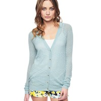 Cut Out Lace Stitch Cardigan by Juicy Couture