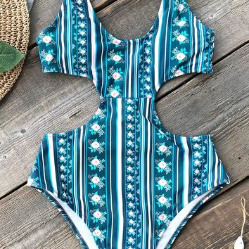 Cupshe Garden Splendor Print One-Piece Swimsuit