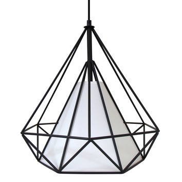 Lumisource Hedron Pendant Lamp in black /white