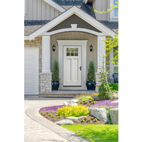 Shop Therma-Tru Benchmark Doors Craftsman Insulating Core 6-Lite Left-Hand Inswing Ready to Paint Fiberglass Prehung Entry Door (Common: 36.0-in x 80.0-in; Actual: 37.5-in x 81.5-in) at Lowes.com
