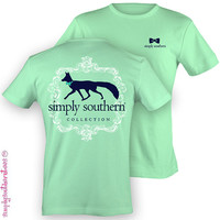 Southern Unisex Preppy Fox T-Shirt on Mint