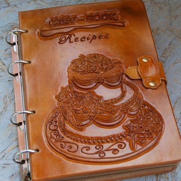 Recipe Book, Cook Book, Leather Journal, Leather Journal Handmade, Personalized Journal, Notebook, Diary, Gift for Her, Gift for Him, OOAK