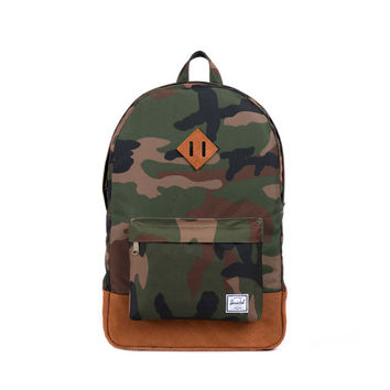 Herschel Supply Co. Heritage Backpack Woodland Camo/Tan Suede