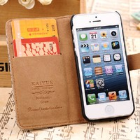 Retro Leather Case for iPhone5