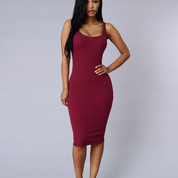 Dolly Dress - Burgundy