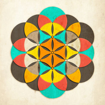 Sacred Geometry: The Flower of life #2 Art Print by Jazzberry Blue   Society6