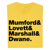 Mumford and Sons Band Line Up T Shirt