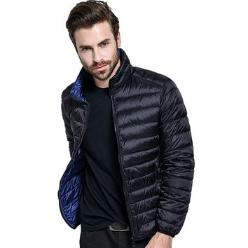 Shanghai Story Men's Ultra Light Reversible Packable Down Puffer Jacket