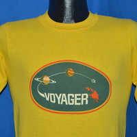 70s Voyager Space Probe NASA Solar System Satellite t-shirt Small
