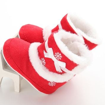 Baby Soft Sole Snow Boots Soft Crib Shoes Toddler Boots baby girls boot shoes