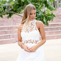 PRE ORDER - LET LOVE RULE DRESS (Expected Delivery 7th April, 2014) , DRESSES, TOPS, BOTTOMS, JACKETS & JUMPERS, ACCESSORIES, 50% OFF SALE, PRE ORDER, NEW ARRIVALS, PLAYSUIT, COLOUR, GIFT VOUCHER,,White,Print,LACE,CUT OUT,SLEEVELESS,MINI Australia, Queensl