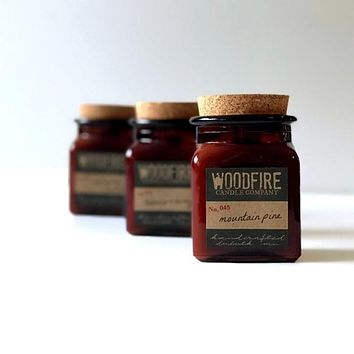 Pick 3 Amber Apothecary Wood Wick Soy Candle