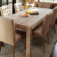 Classy Styled Lime Wash Hampton Dining Table