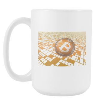 Bitcoin Floating Ball Tall Mug
