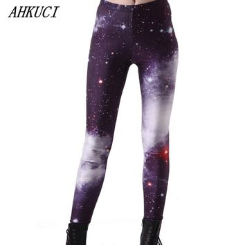 2016 New Design Women Colorful Galaxy Leggings Universe Space Riddler Legging 3D Printed S-5XL Plus Size Slim Pantalon Mujer