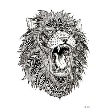 Tattoo lion Animal temporary tattoo