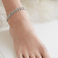 Beaded Two-Chain Anklet