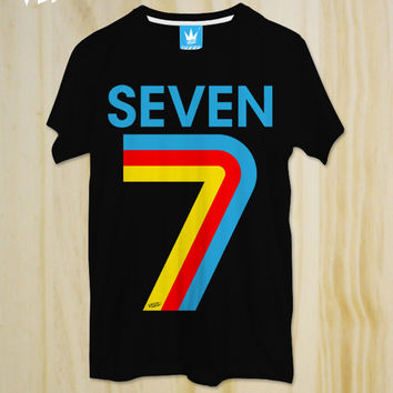 7 SEVEN , Number T-shirt,Pinterest tees,T-shirt ,Friend Gift,tumblr shirt,Teen T-shirt,Quote Tshirt,Slogan T-shirt,Colorful shirt,Swag shirt