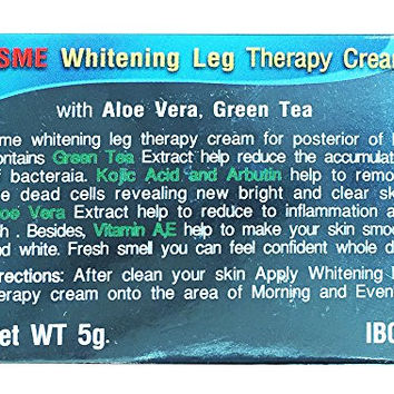 ISME Leg Therapy Cream Anti-bacterial, Lightens Groins with Aloe Vera and Green Tea 5 Gms.