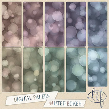 Bokeh Digital Paper Pack Muted turquoise, teal, pink, purple, green, gold.Perfect for desktop n blog backgrounds Facebook n twitter headers