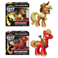My Little Pony Vinyl Collectables Set with Apple Jack and Big Mac Figures - Funko