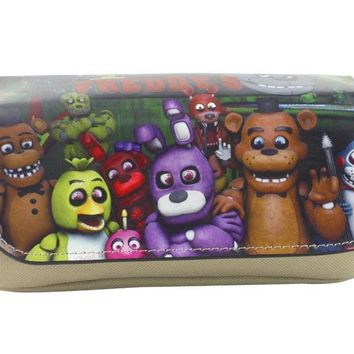 Five Night at Print Purse Harem Game Animation Wallet Zipper Pen Pencil Pouch Leather Bag Stationery Cartoon Wallets