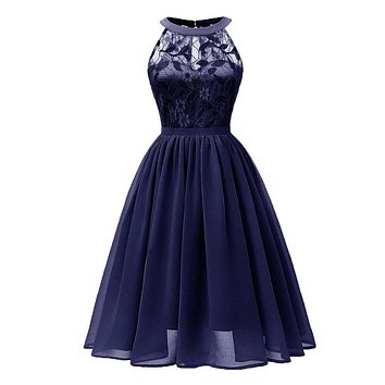 Autumn Dress Women Vintage Princess Floral Lace Cocktail Neckline Party Aline Vestidos De Fiesta Woman Dress 2019