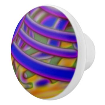 Magic Colorful Ornament Ceramic Knob