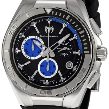 Technomarine Black and Blue Dial Chronograph Mens Watch 110003