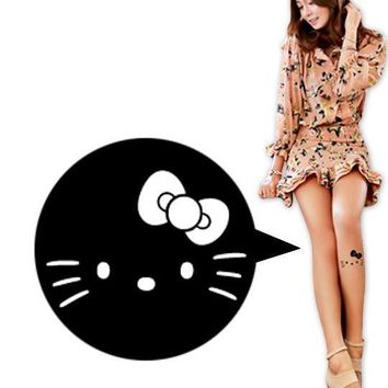 Hello Kitty Lady Black Transparent Tights Silk Stocking Sock Pantyhose Cat Gift