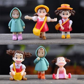 1PC my neighbor Totoro action figure Hayao Miyazaki film miniature figurines Toys 2-3cm japanese cute anime160153