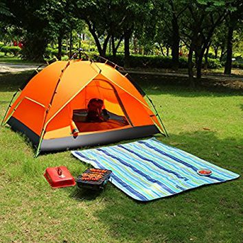 Leapair 2-3 Person Instant Cabin Camping Family Tent Pop Up Hydraulic Pressure Automatic for Hiking Climbing Fishing