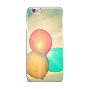 "Robin Dickinson ""Balloons"" Tan Clouds iPhone Case"