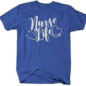 Shirts By Sarah Men's Funny Nurse Life T-Shirt Stethoscope Tee Shirt