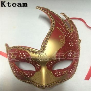 Hot Party Cosplay Bauta Phantom Opera Venetian Masquerade Ball Mask Hand Painting Halloween Grimace Mardi Gras Venice Party Mask