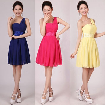 Women Sexy Wedding Bridesmaid Prom Ball Short Dress Evening Party Formal S-2XL = 1956793604