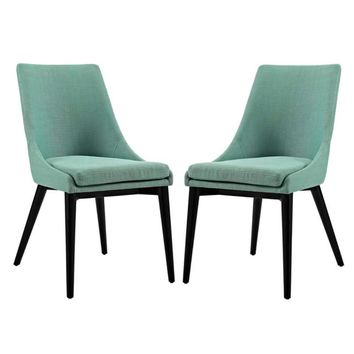 Viscount Set of 2 Fabric Dining Side Chair, Laguna