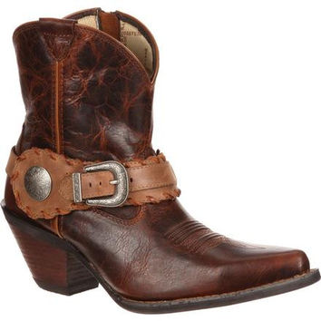 Crush by Durango Women's Spur Strap Demi Western Boot