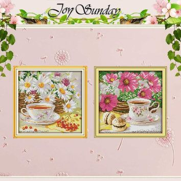 Cross Stitch kit Afternoon Tea (1) Patterns Counted Cross Stitch 11CT 14CT